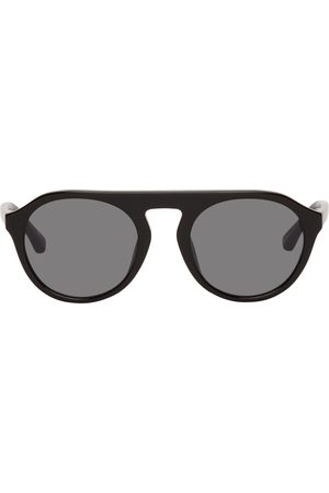 Dries Van Noten Women Round - Black Linda Farrow Edition Round Sunglasses