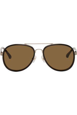 DRIES VAN NOTEN Women Aviators - Black & Bronze Linda Farrow Edition Aviator Sunglasses