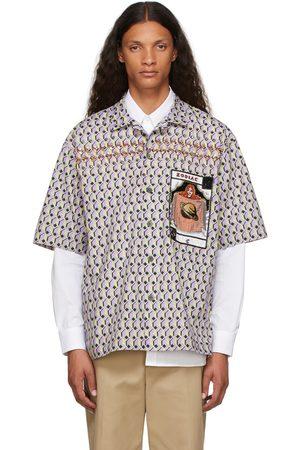 Dries Van Noten Men Short sleeves - Multicolor Graphic Pattern Short Sleeve Shirt