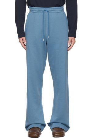 Dries Van Noten Blue French Terry Wide-Leg Lounge Pants