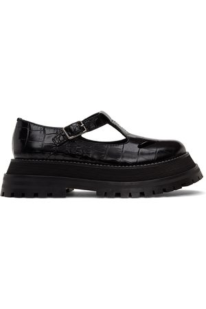 Burberry Croc T-Bar Loafers