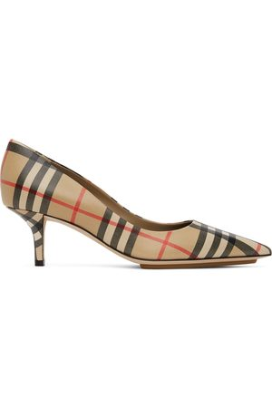 Burberry Beige Vintage Check Aubri Heels