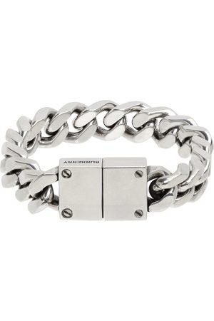 Burberry Silver Curb Chain Bracelet