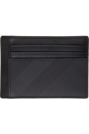 Burberry Grey London Check Money Clip Card Holder