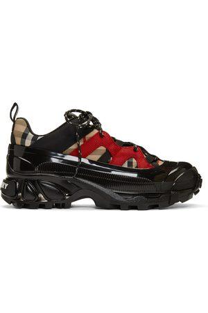 Burberry Black & Beige Arthur Sneakers