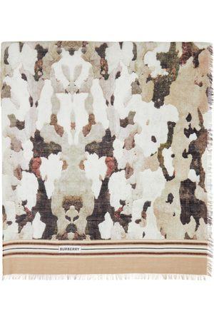 Burberry Multicolor Camouflage Print Scarf