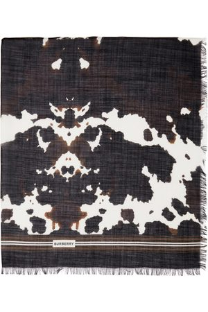 Burberry Brown Camouflage Print Scarf