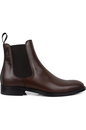 Alberto Luxury shoes for men - Brown leather boots
