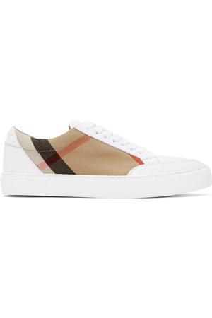 Burberry White New Salmond Sneakers