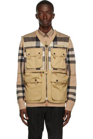 Burberry Beige Cotton Mesh Finmere Vest