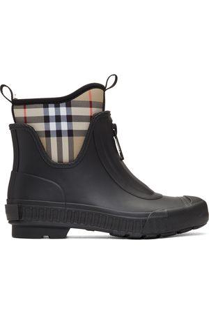 Burberry & Beige Flinton Rain Boots