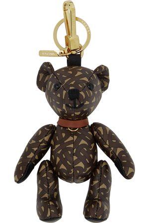Burberry Brown TB Leather Thomas Bear Keychain