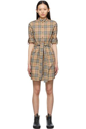 Burberry Beige Vintage Check Giovanna Dress