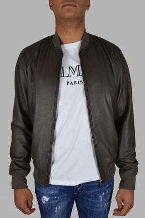 Billionaire Men's luxury jacket - bomber in brown leather