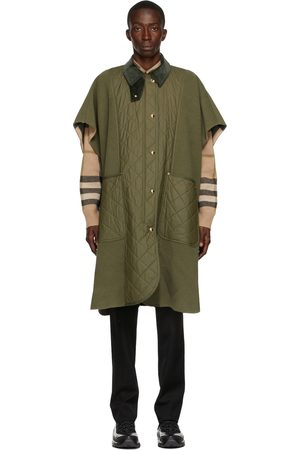 Burberry Green Quilted Panel Cape