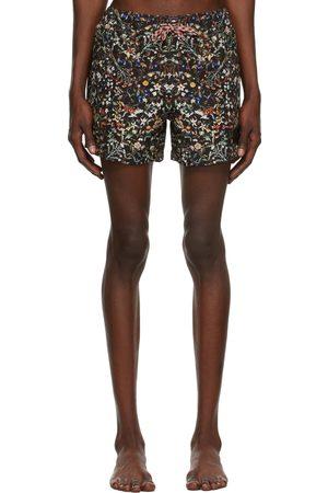 Burberry Black Floral Swim Shorts