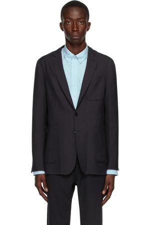 Burberry Navy Tailored Slim Fit Blazer