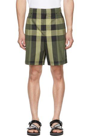 Burberry Green Check Scott Shorts