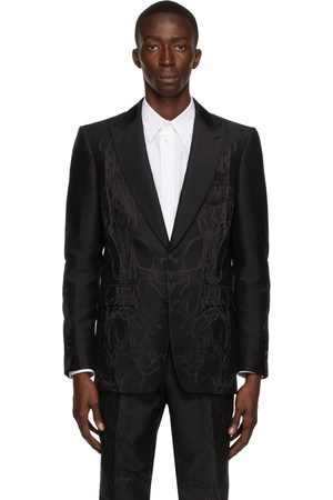 Burberry Men Blazers - Silk Jacquard Tailored English Fit Blazer