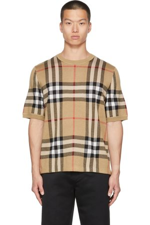 Burberry Beige Jacquard Check T-Shirt