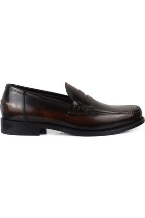 Alberto Luxury shoes for men - Brown loafers in shiny brown leather
