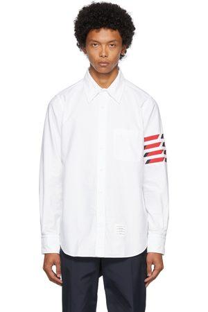 Thom Browne White Oxford Seamed 4-Bar Shirt