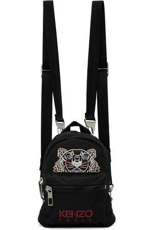 Kenzo Women Rucksacks - Black Mini Kampus Tiger Backpack