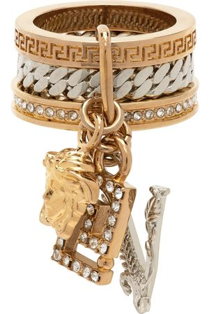 VERSACE Women Rings - Gold & Silver Charms Ring