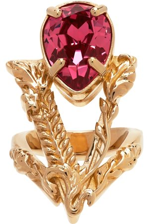 VERSACE Women Rings - Gold & Pink Virtus Ring
