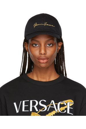 VERSACE Women Caps - Black GV Signature Cap
