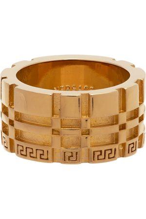 VERSACE Women Rings - Gold Greca Logo Band Ring