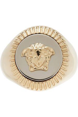 VERSACE Men Rings - Gold Medusa Signet Ring