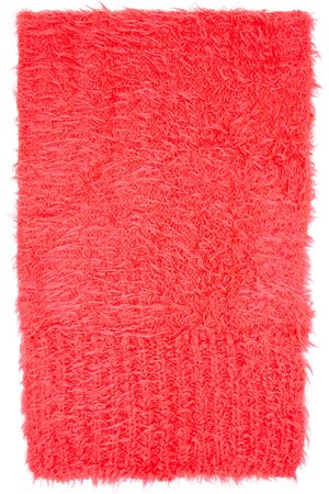 The Attico Pink Knit Mohair Scarf