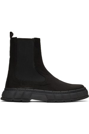 VIRON Black Waxed Faux-Suede 1997 Chelsea Boots