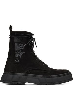 Virón Black Waxed Faux-Suede 1992 Boots