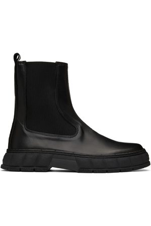 VIRON Black Apple Leather 1997 Chelsea Boots