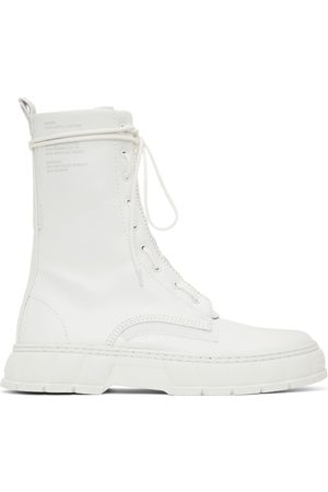 VIRON SSENSE Exclusive White Apple Leather 1992 Zip Boots