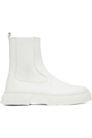 VIRON SSENSE Exclusive White Apple Leather 1997 Chelsea Boots