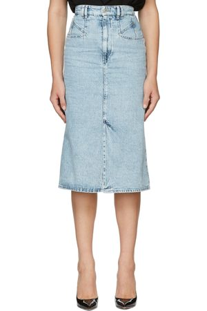 Isabel Marant Blue Denim Dipoma Skirt