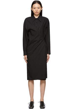 Lemaire Women Midi Dresses - Black Twisted Dress