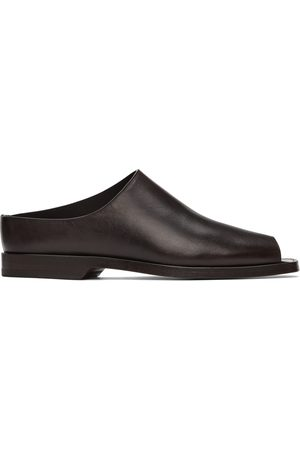 Lemaire Women Mules - Brown Leather Flat Mules