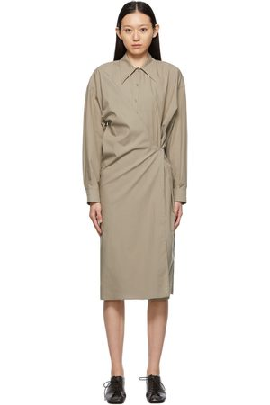 LEMAIRE Beige Twisted Dress