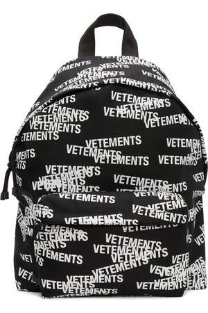 VETEMENTS Men Luggage - & White Logo Stamp Backpack