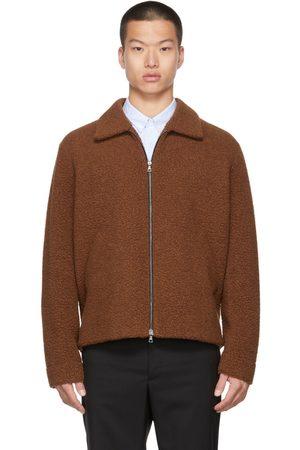Harris Wharf London Brown Wool Golf Jacket