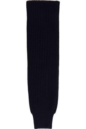 Sunnei Men Scarves - Navy Knit Sleeve Scarf