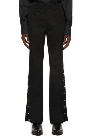 Yuki Hashimoto Men Wide Leg Pants - Wool Flared Trousers