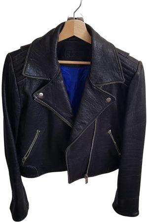 WHAT GOES AROUND COMES AROUND Leather biker jacket