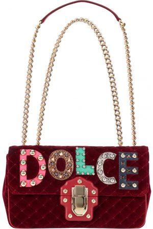 Dolce & Gabbana Lucia velvet handbag