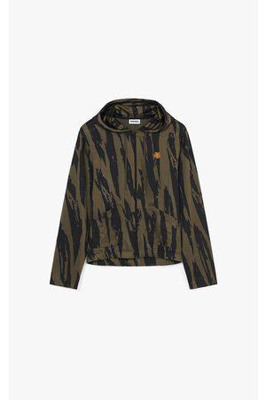 KENZO Sweatshirts - Pleat Camo' zipped hooded sweatshirt.