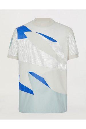 FERRARI Men Short Sleeve - Men's printed wool T-shirt